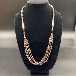 Vintage Art Deco Multi-Strand Steel Necklace